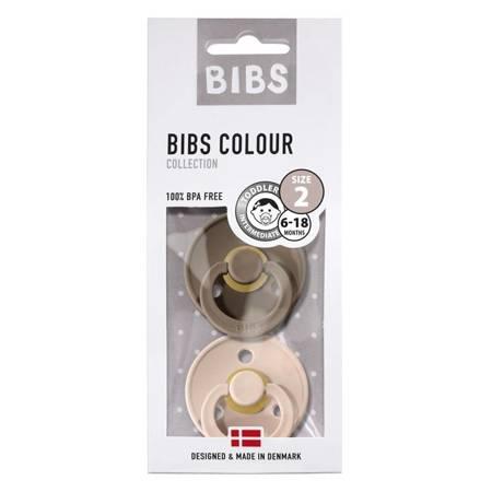BIBS - Zestaw smoczków M Blush & Dark Oak
