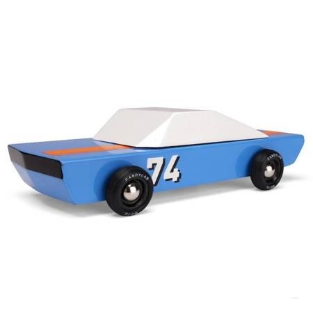 CandyLab - Drewniany Samochód - Blu74 Speed Racer