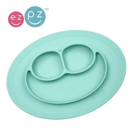 EZPZ - Silikonowy talerzyk mał niebieski