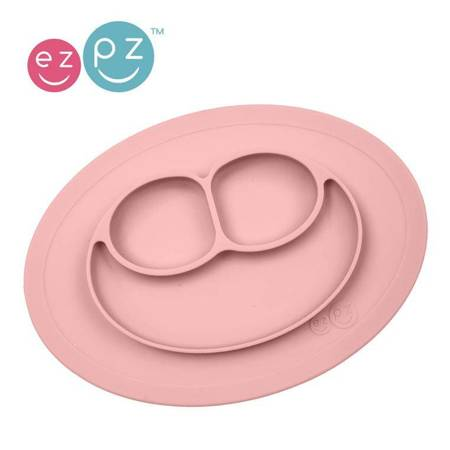 EZPZ - Silikonowy talerzyk z przyssawką 2w1 różowy