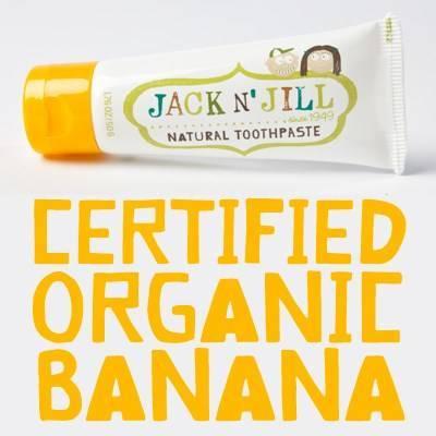 Jack N'Jill: Naturalna Pasta do zębów banan