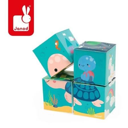 Janod - Klocki do kąpieli puzzle 6w1 Zwierzątka